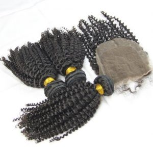 3 bundle 1 closure jerry curl