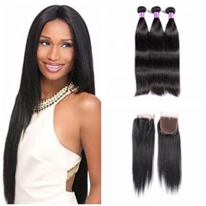 Mink Hair 3 Bundle with 1 Closure