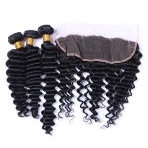 Mink hair 3 Bundle with 1 Frontal Deal
